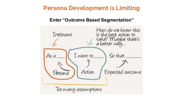 "Persona Development is Limiting Enter ""Outcome Based Segmentation"""