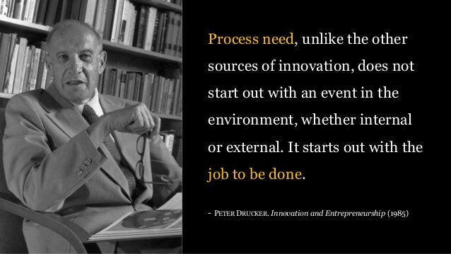 Process need, unlike the other sources of innovation, does not start out with an event in the environment, whether interna...
