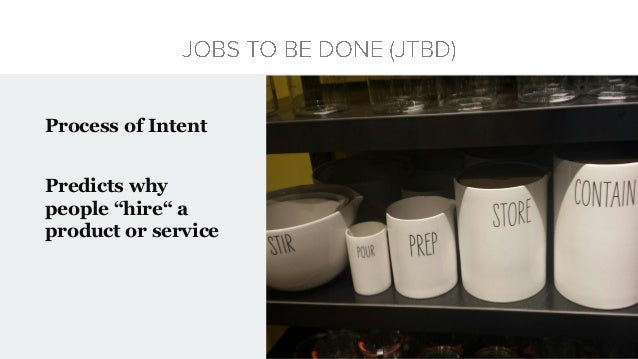 """Process of Intent Predicts why people """"hire"""" a product or service"""