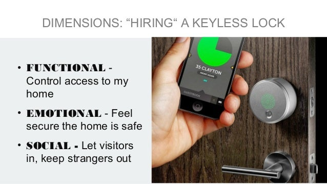 • SITUATION – Private home- owners need to let people in and out when they are at work during the day • MOTIVATION – Solve...
