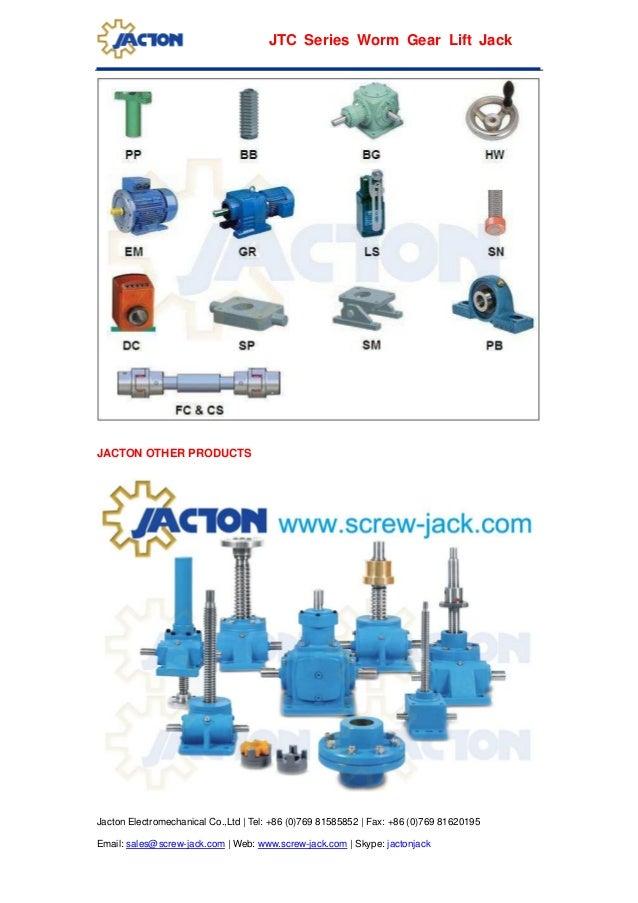 Jtc200 Worm Gear Screw Lifter 20000kg Rotating Screw Jack