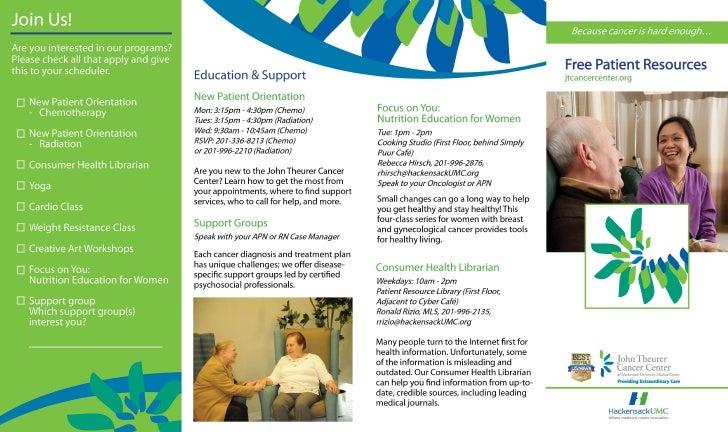 John Theurer Cancer Center Patient Resources Brochure
