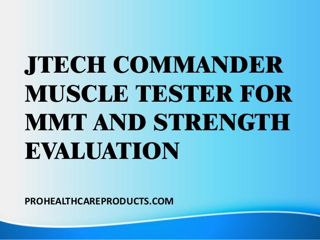 Jtech Commander Muscle Tester For MMT And Strength