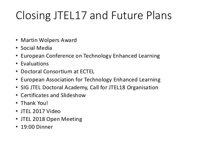 European Conference on Technology Enhanced Learning • http://www.ec-tel.eu/ • University of Leeds 2018 • September 3rd to ...