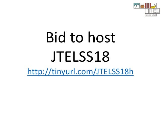 JTELSS17 Opening and Closing Slides