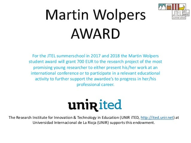 Closing JTEL17 and Future Plans • Martin Wolpers Award • Social Media • European Conference on Technology Enhanced Learnin...