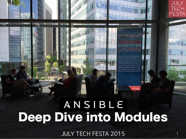 Deep Dive into Modules JULY TECH FESTA 2015 1