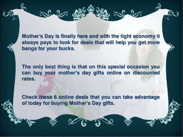 Best money saving online deals for your mother Slide 2