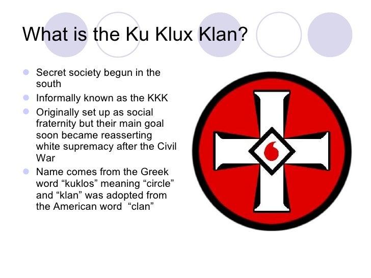 Jthe Ku Klux Klan