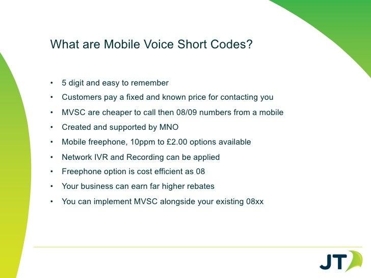 JT Mobile Voice Short Code Solution 2012