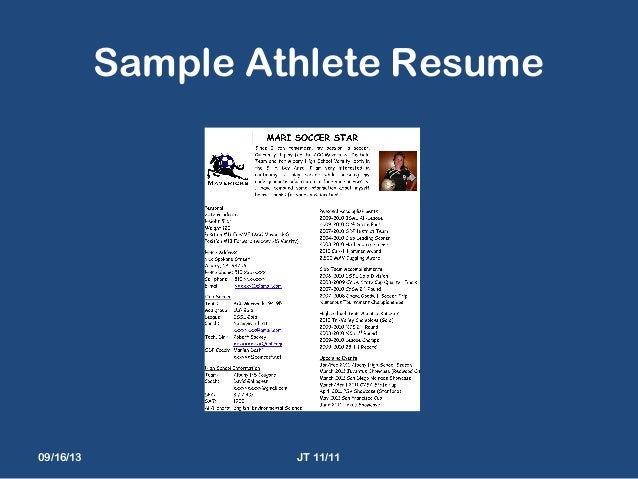resume high school athlete