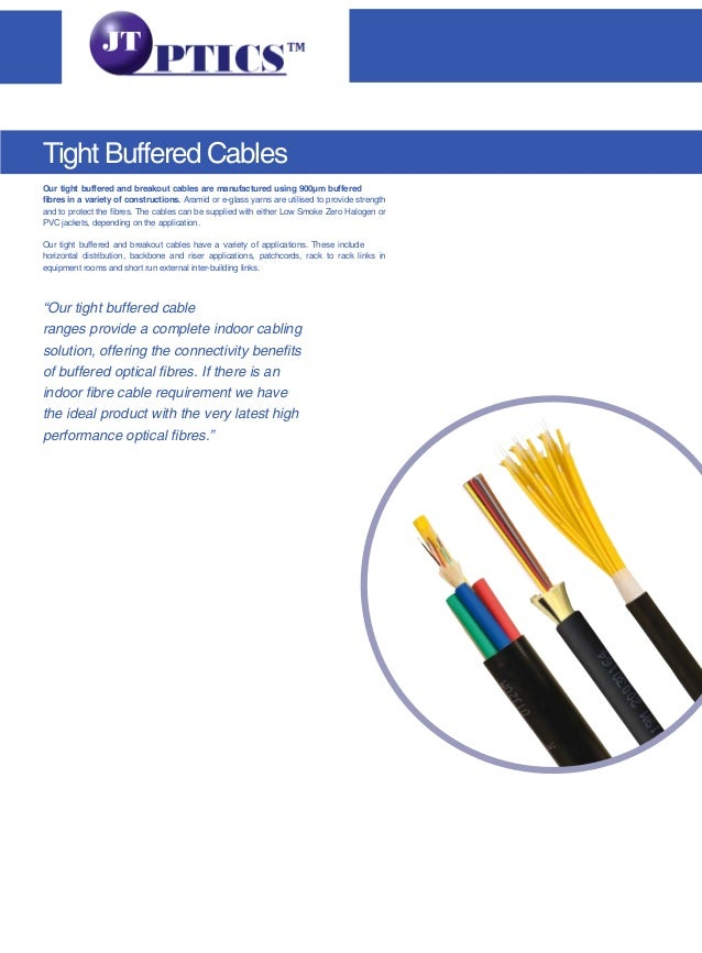 Our tight buffered and breakout cables are manufactured using 900µm buffered fibres in a variety of constructions. Aramid ...