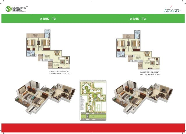 2 BHK - T6 CARPET AREA: 584.34SQFT BALCONY AREA: 108.24 SQFT 2 BHK - T7 CARPET AREA: 609.77 SQFT CARPET AREA: 113.73 SQFT