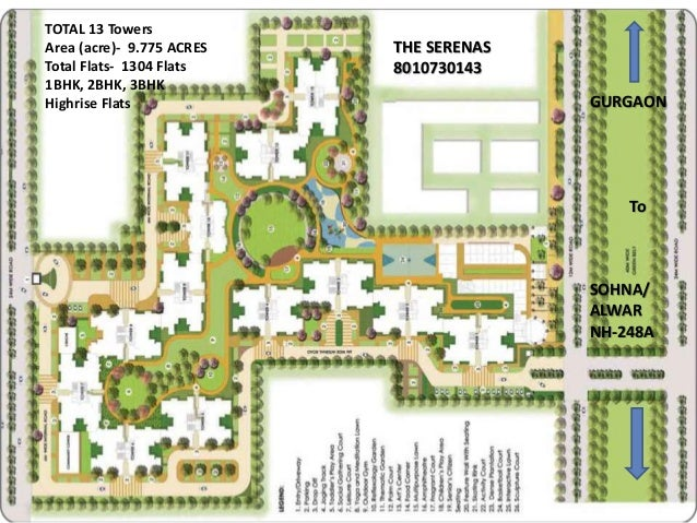 Location Signature global THE SERENASsector 36 Sohna- South of Gurgaon / Greater Gurgaon