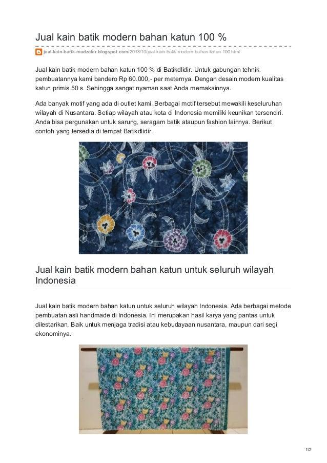 Jual Kain Batik Modern Bahan Katun 100