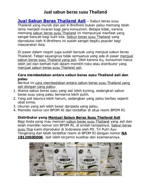 Jual Sabun Beras Susu Thailand