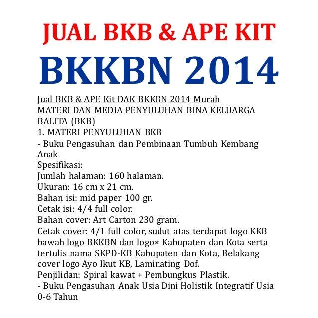 JUAL BKB & APE KIT  BKKBN 2014  Jual BKB & APE Kit DAK BKKBN 2014 Murah  MATERI DAN MEDIA PENYULUHAN BINA KELUARGA  BALITA...
