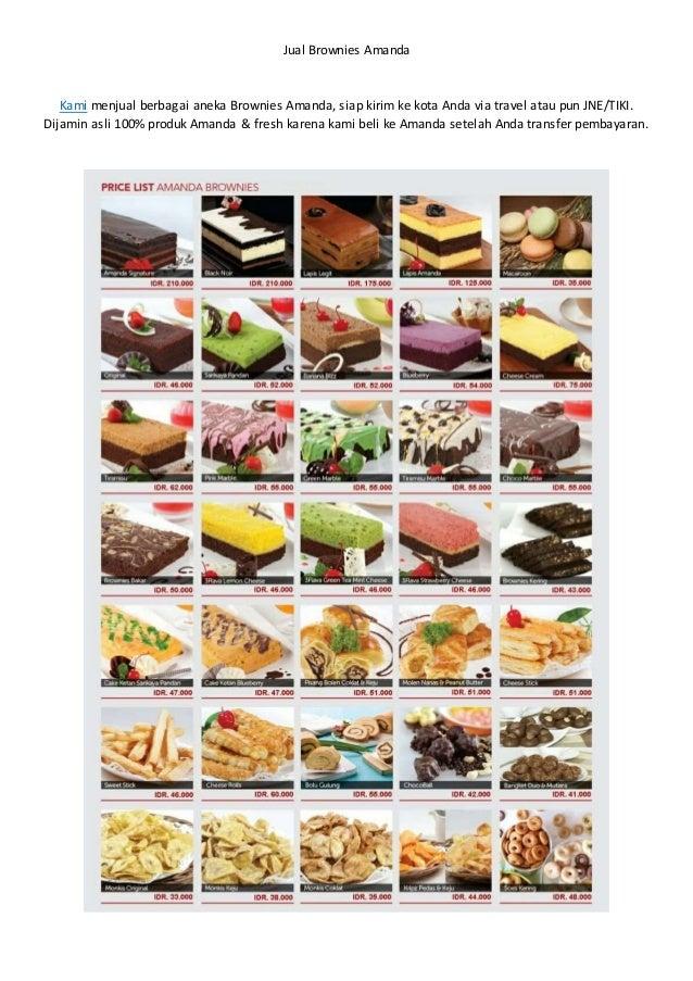 Jual Brownies Amanda Kami menjual berbagai aneka Brownies Amanda, siap kirim ke kota Anda via travel atau pun JNE/TIKI. Di...