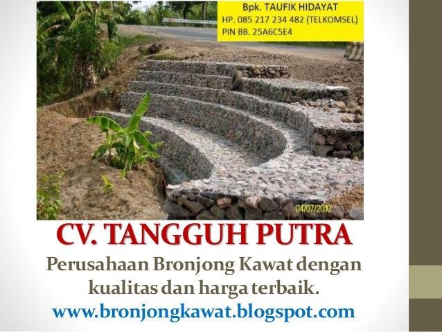 CV. TANGGUH PUTRA Perusahaan Bronjong Kawatdengan kualitasdan hargaterbaik. www.bronjongkawat.blogspot.com