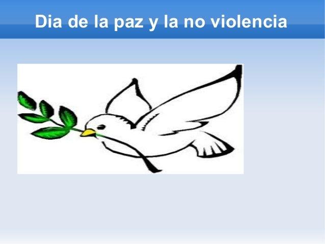 Dia de la paz y la no violencia