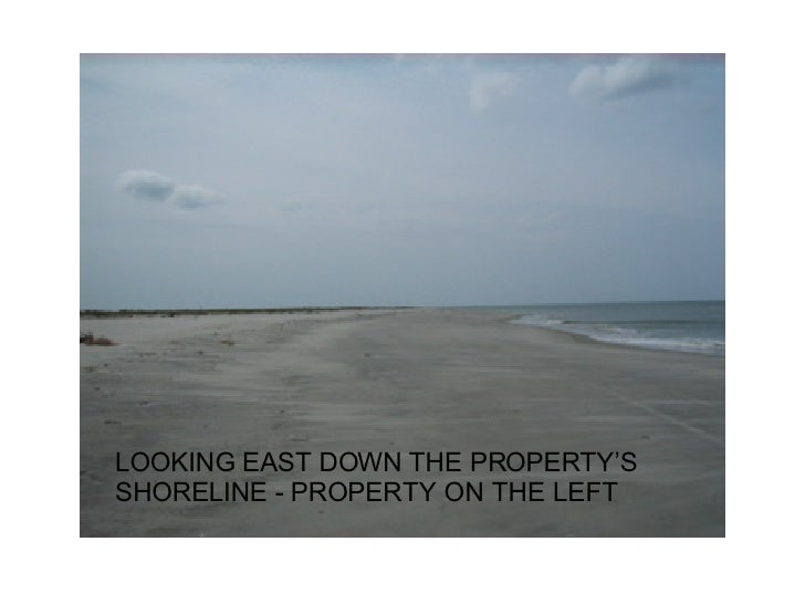 LOOKING EAST DOWN THE PROPERTY'S SHORELINE - PROPERTY ON THE LEFT