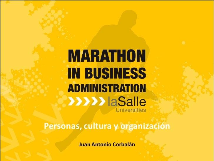 Personas, cultura y organización        Juan Antonio Corbalán