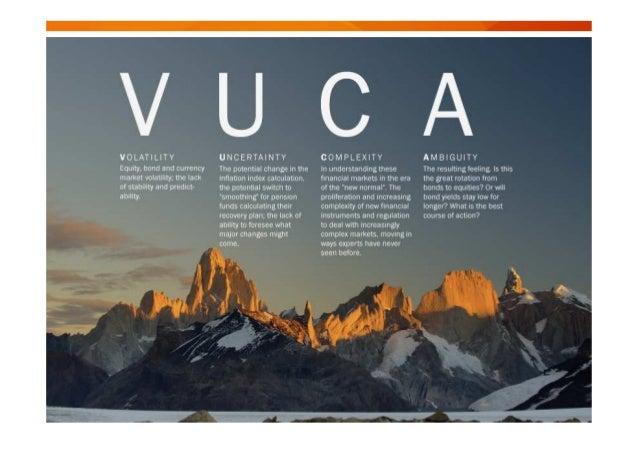 """""""Los entornos VUCA se convierten en invitaciones para la falta de acción, las personas quedan confundidas por los cambios ..."""
