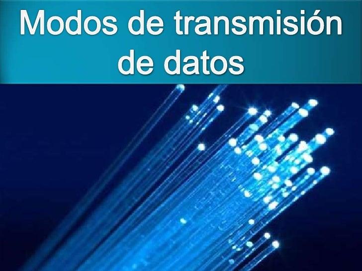 La transmisión analógica que datos consisteen el envío de información en forma deondas, a través de un medio de transmisió...