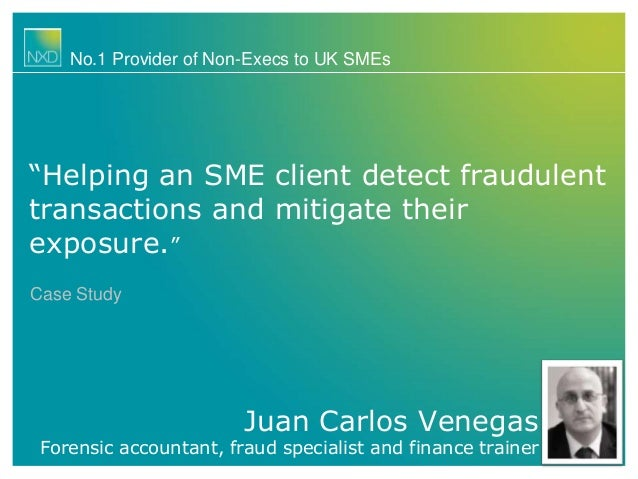 """Juan Carlos Venegas Forensic accountant, fraud specialist and finance trainer No.1 Provider of Non-Execs to UK SMEs """"Helpi..."""
