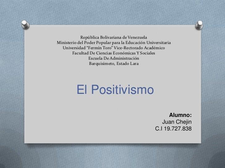 """República Bolivariana de VenezuelaMinisterio del Poder Popular para la Educación Universitaria  Universidad """"Fermín Toro"""" ..."""