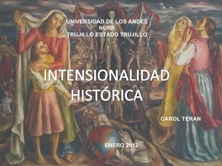 UNIVERSIDAD DE LOS ANDES          NURRTRUJILLO ESTADO TRUJILLO                           CAROL TERAN           ENERO 2012