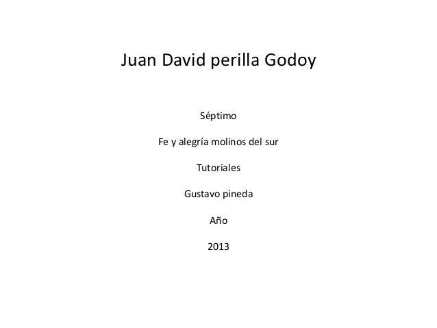 Juan David perilla GodoySéptimoFe y alegría molinos del surTutorialesGustavo pinedaAño2013