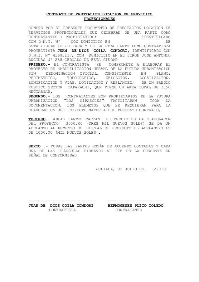 Juan de dios contrato de locacion servicios habilitacion for Contrato documento