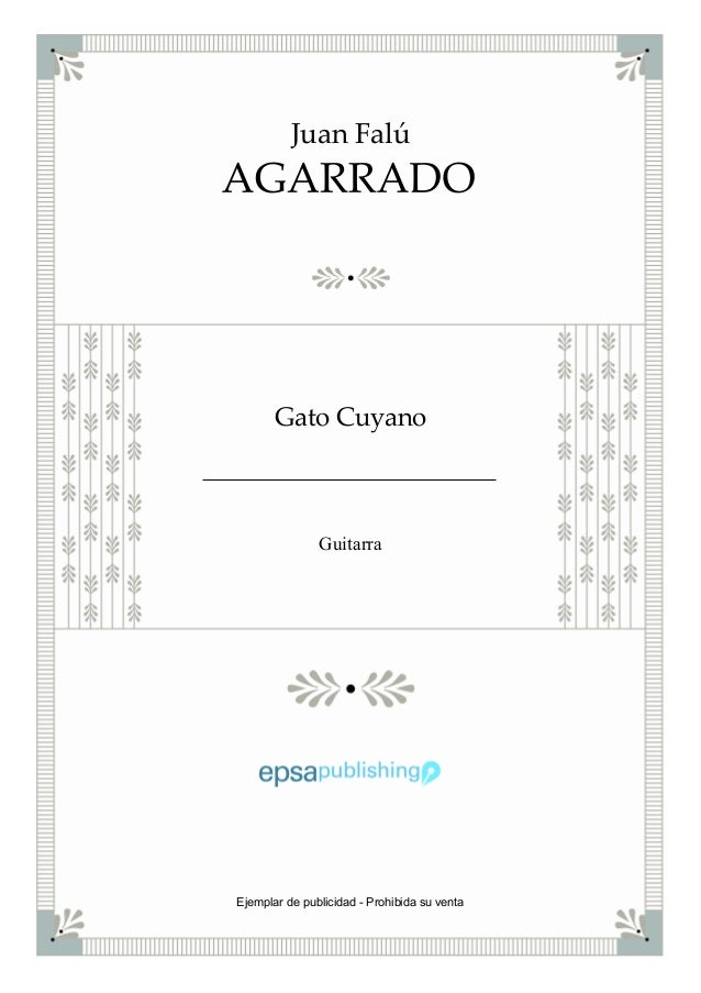 Juan Falú Gato Cuyano Guitarra Ejemplar de publicidad - Prohibida su venta