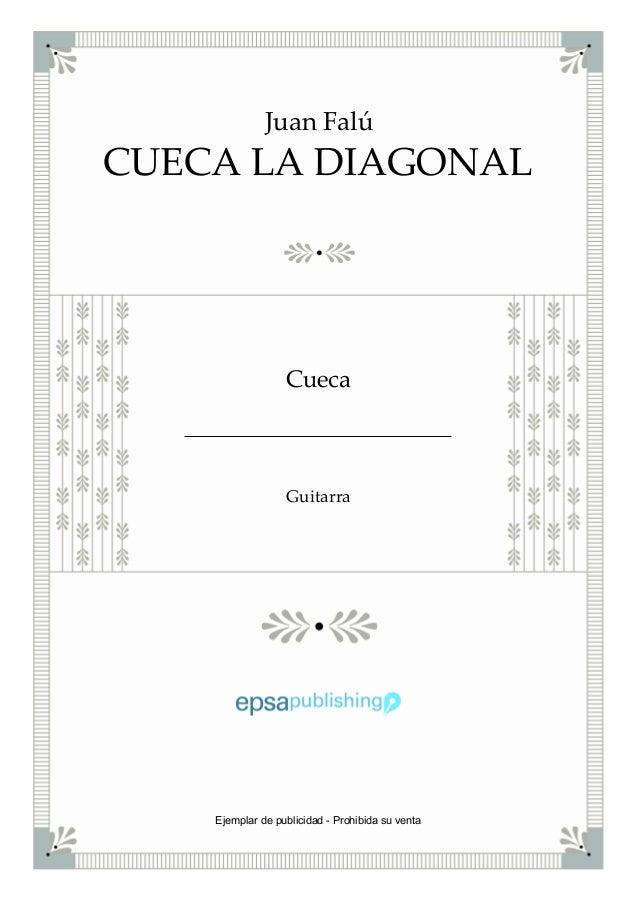CUECA LA DIAGONAL Juan Falú Cueca Guitarra Ejemplar de publicidad - Prohibida su venta