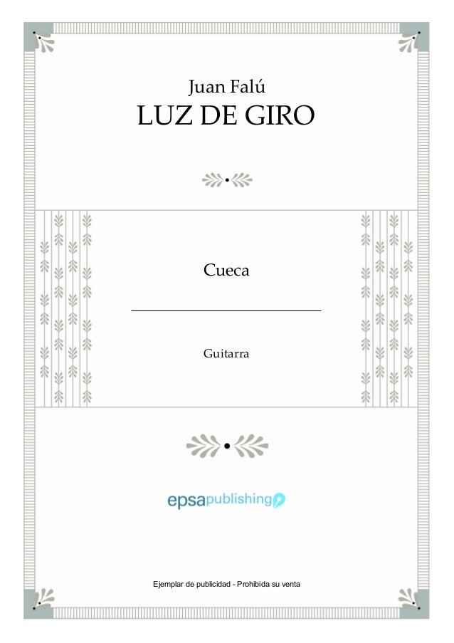 Juan Falú Cueca Guitarra Ejemplar de publicidad - Prohibida su venta