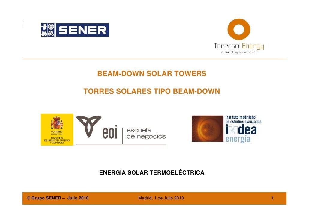 Juan i.burgaleta. beam-down solar towers - torres solares tipo beam-down