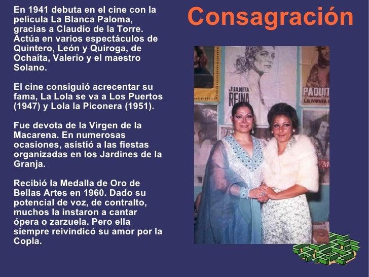 Consagración En 1941 debuta en el cine con la película La Blanca Paloma, gracias a Claudio de la Torre. Actúa en varios es...