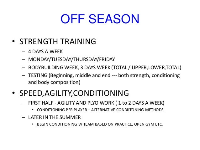 Strength and conditioning coach - PreSeason Training for ...