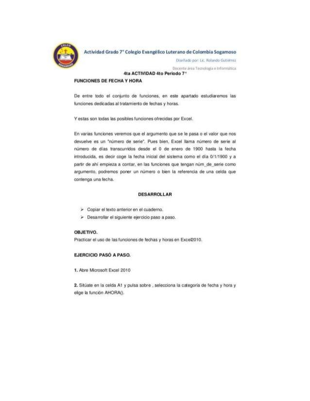 Actividad Grado 7° Colegio Evanglico Luterano de Colombia Sogamoso Disuuam por LIL.  Rolando Gutierrez  [_)DLL'l Lu qr-gar...