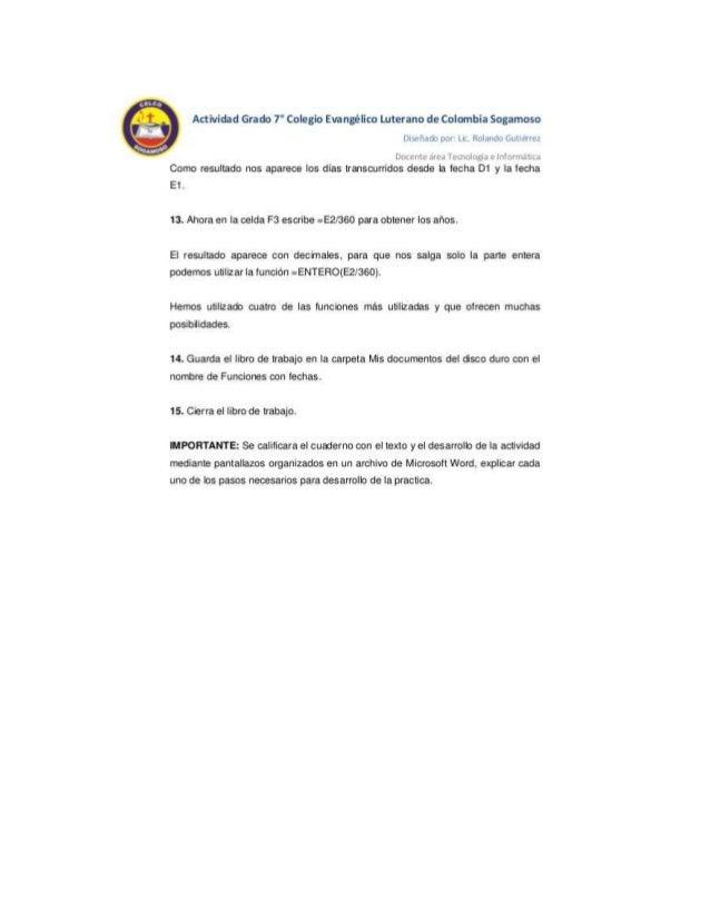 L V  4%  I  Actividad Grado 7° Colegio Eirangélico Luterano de Colombia Sogamoso  ll' l [ll  Como resultado nos apareoe Io...