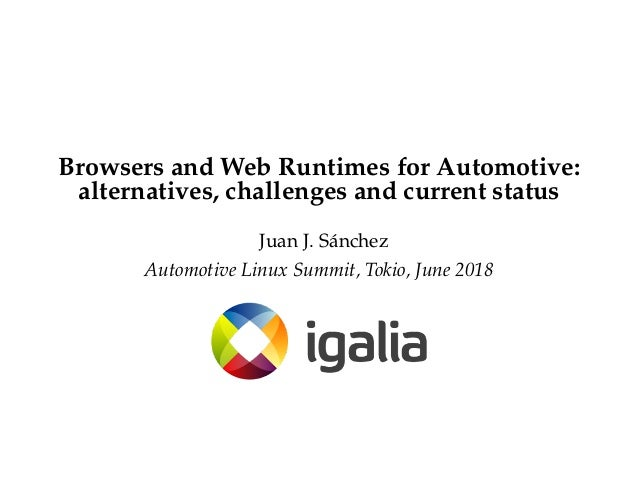 Browsers and Web Runtimes for Automotive: Alternatives