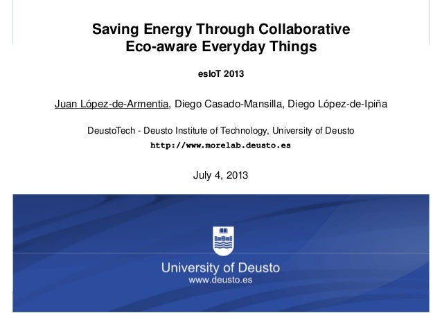 Saving Energy Through Collaborative Eco-aware Everyday Things