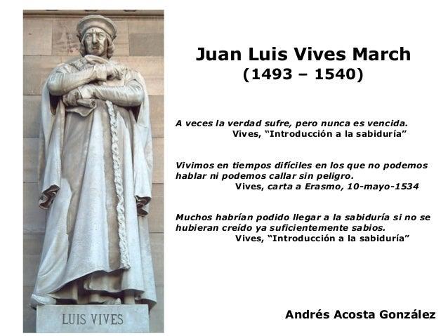 Juan Luis Vives Vida Y Obra