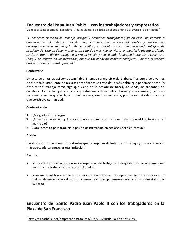 Encuentro del Papa Juan Pablo II con los trabajadores y empresariosViaje apostólico a España, Barcelona, 7 de noviembre de...
