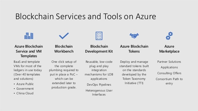 Customers and partners are building blockchain apps on Azure PARTNERS CUSTOMERS