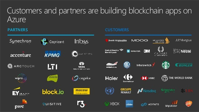 Digitize trust with Microsoft Azure Blockchain Seamlessly integrate blockchain with your business using built- in connecti...