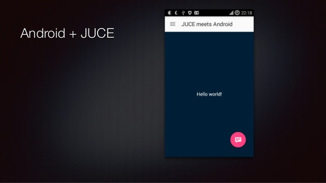 Mobile Application Development with JUCE and Native API's