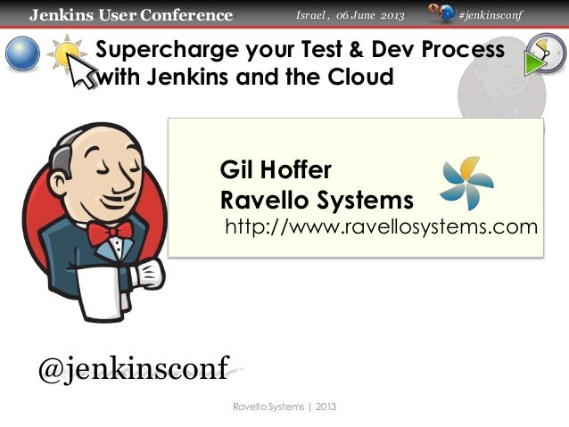 Jenkins User Conference Israel , 06 June 2013 #jenkinsconf Supercharge your Test & Dev Process with Jenkins and the Cloud ...