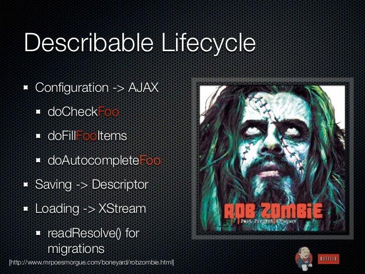 Describable Lifecycle        Configuration -> AJAX            doCheckFoo            doFillFooItems            doAutocomplet...